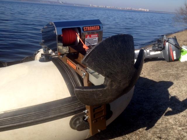 якорные лебедки для надувных лодок